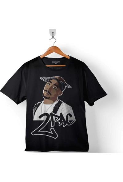 Kendim Seçtim 2Pac Tupac Shakur Makaveli Cartoon 2 Pac 2 Çocuk Tişört