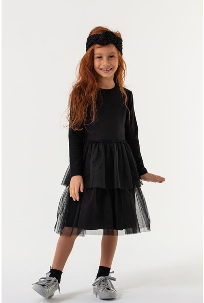 Honor Kız Çocuk Elbise Siyah