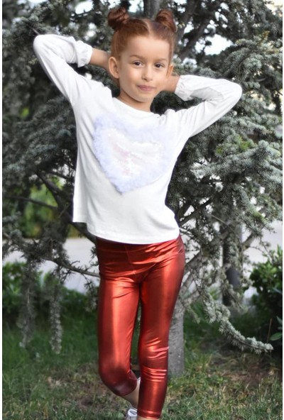 Shiny Kız Çocuk Tayt