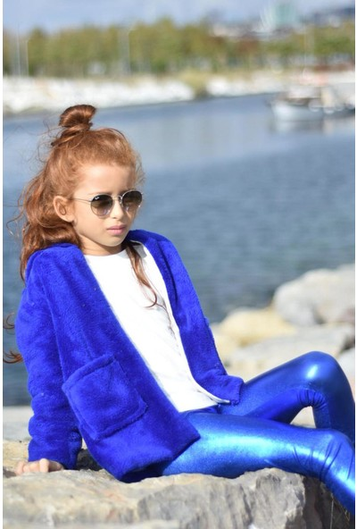 Peluş Kız Çocuk Mont