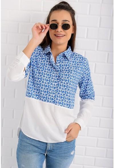 Stile İst Yarım Patlı Bloklu Gömlek