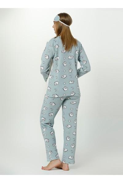 Akbeniz WellSoft Kadın Pijama Takımı 8049