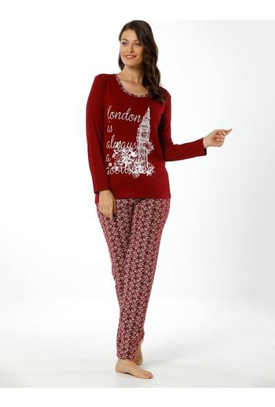Akbeniz Kadın Uzun Kol Pijama Takımı 2452