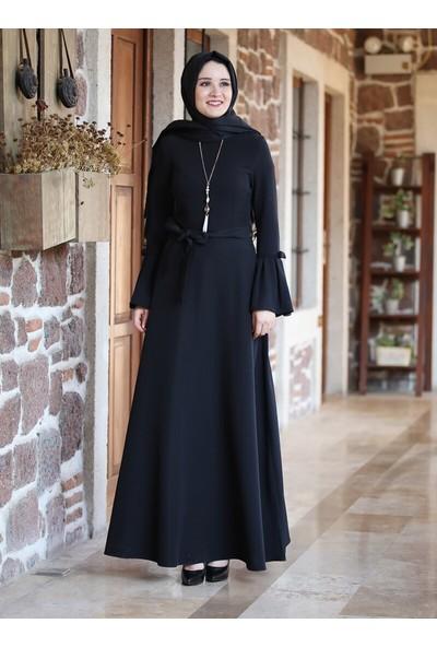 Amine Hüma Yıldız Elbise Siyah