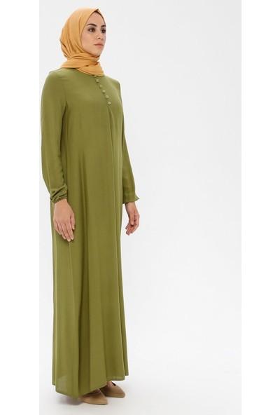 Ginezza A Pile Elbise Fıstık Yeşili