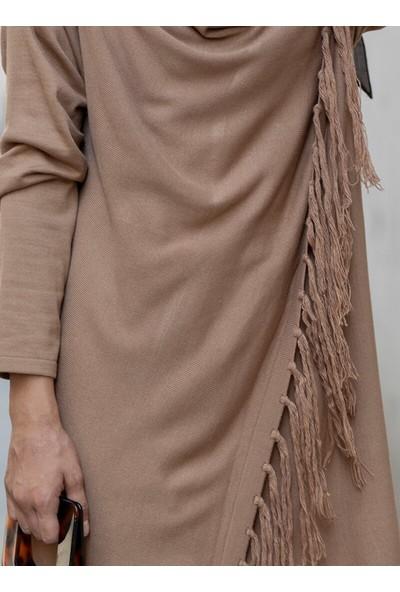 Gizem Kış Triko Tunik&Amp;Amp;Pantolon 2`Li Takım Kahverengi