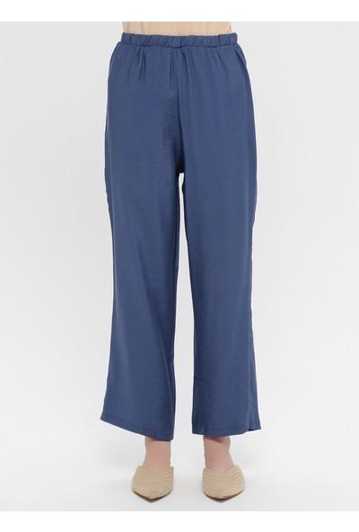 Panaline Düğmeli Tunik&Amp;Amp;Pantolon İkili Takım İndigo