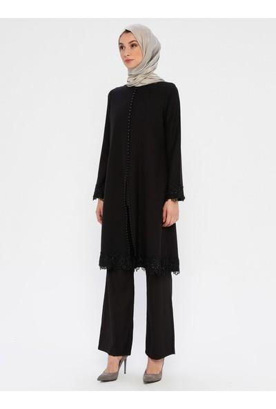 Bürün Tunik Pantolon İkili Takım Siyah