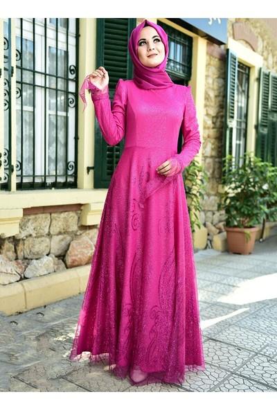 Nurgül Çakır Kadın Simli Abiye Elbise