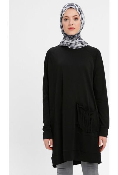 Nurgül Çakır Kadın Cepleri Püsküllü Tunik