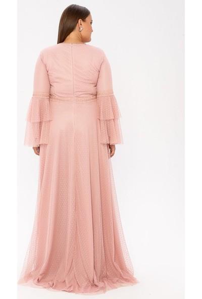 Arıkan Kadın Dantelli Abiye Elbise
