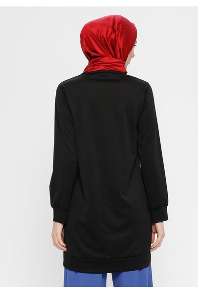 Hanimşah Kadın Baskılı Tunik Siyah