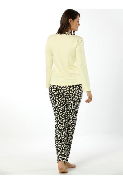 Akbeniz Kadın Uzun Kol Pijama Takımı 2448