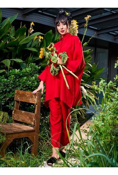 Gizem Kış Relax İkili Takım Kırmızı