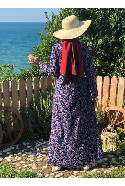 Kübra Biriktir Elif Elbise Lacivert