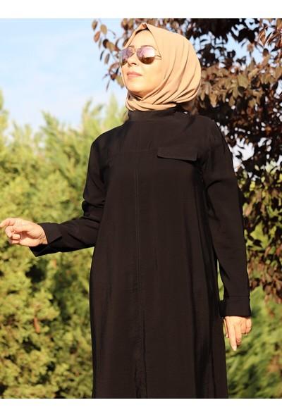 Zehrace Kadın Optimus Kemerli Tunik Siyah