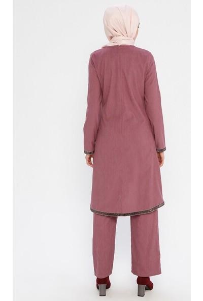 Bürün Tunik Pantolon İkili Takım Gül Kurusu