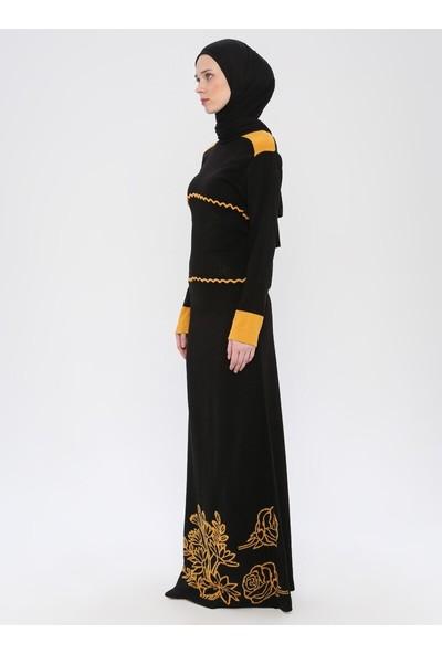 Dadali Triko Elbise Siyah