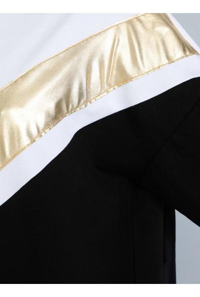 Tavin V Detaylı Tunik Siyah Dore
