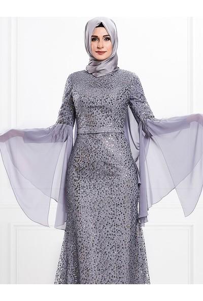 Moda Sinanlar Kadın Derin Abiye Elbise