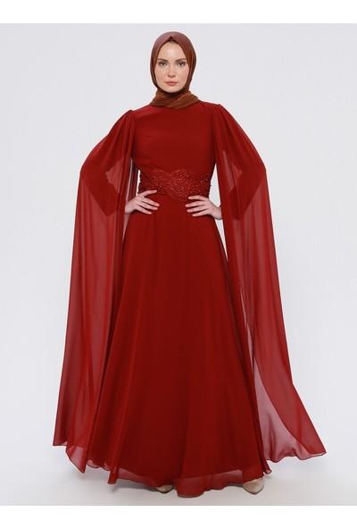 Efkeyem Kadın Güpür Detaylı Abiye Elbise