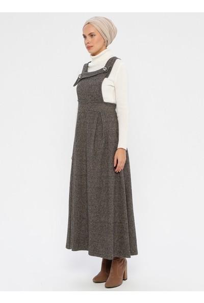 Minea Kadın Pile Detaylı Kolsuz Elbise