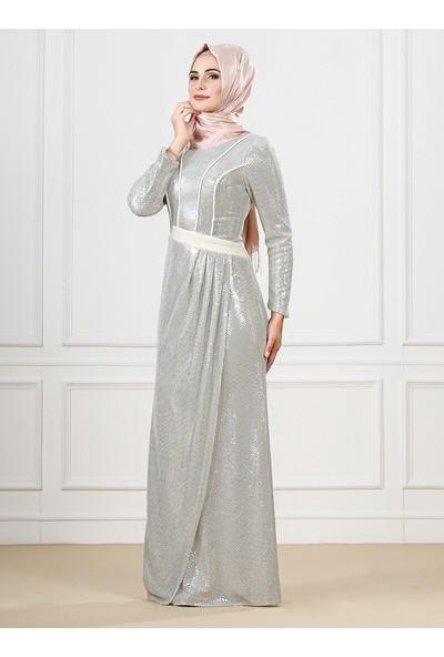 Moda Sinanlar Kadın Alinda Abiye Elbise