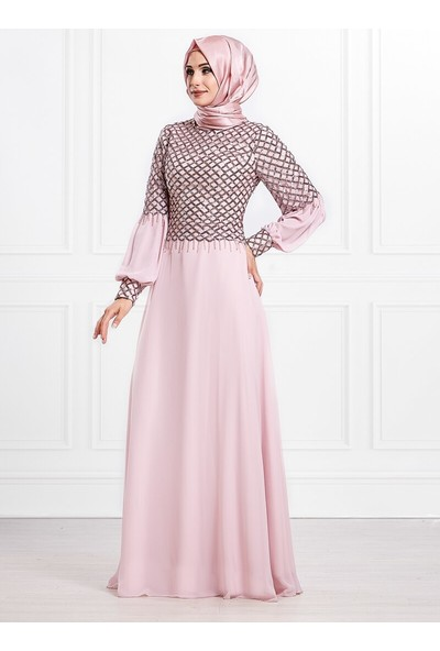 Moda Sinanlar Kadın Hazan Abiye Elbise