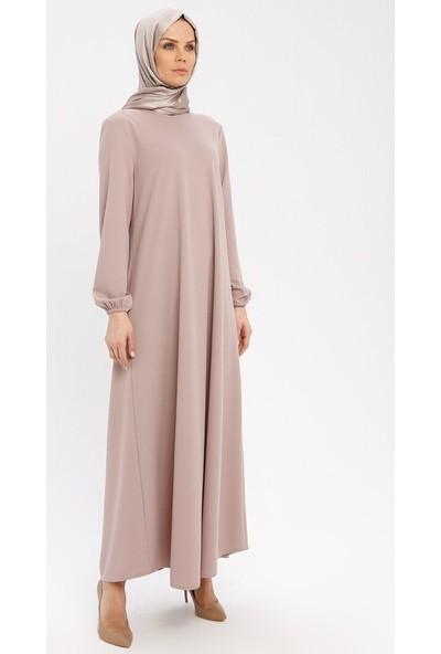 Ecesun Kadın Kol Ucu Lastikli Elbise