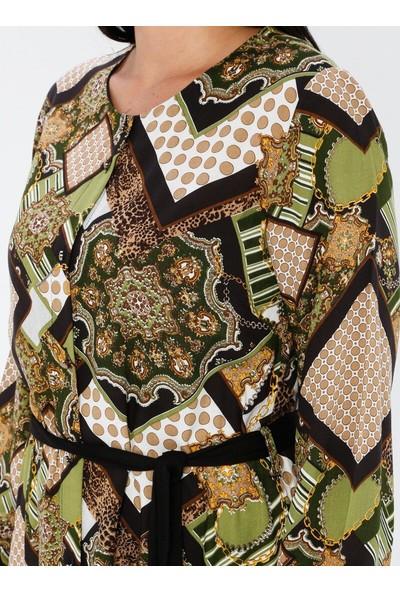 Gelince Kadın Çok Renkli Desenli Tunik