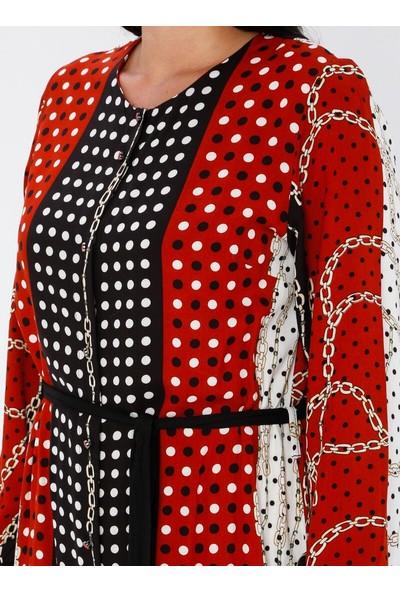 Gelince Kadın Çok Renkli Desenli Elbise