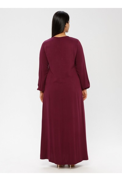 Ginezza Plus Kadın Drop Baskılı Elbise
