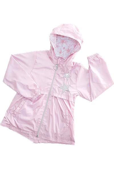 Mandolin Kız Çocuk Kapşonlu Yağmurluk