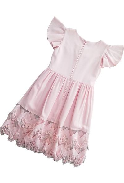 Pafim Yarım Kol Krinkıl Elbise