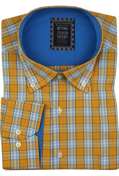 Bettino Büyük Beden Bettino Mevsimlik Klasik Kesim Gömlek