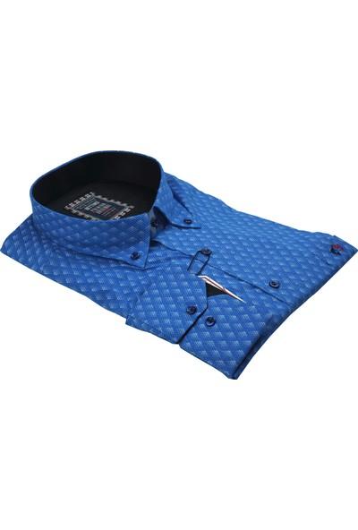 Bettino Büyük Beden Erkek Likralı Pamuk Gömlek