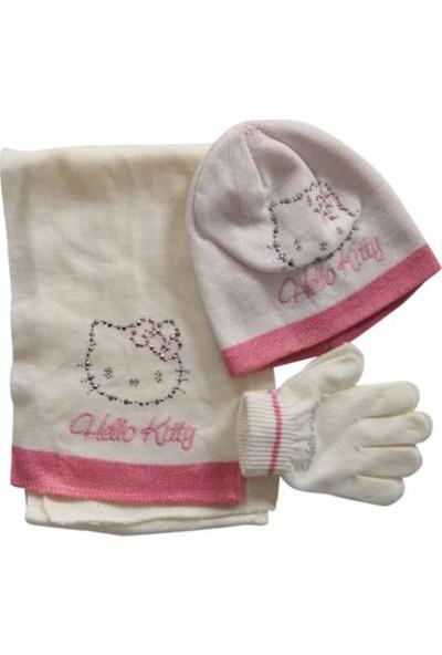 Hello Kitty Kız Çocuk Atkı,Bere,Eldiven Seti