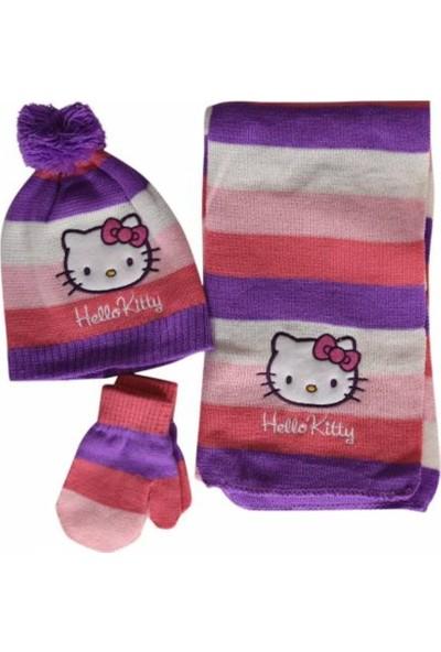 Hello Kitty Çocuk,Atkı,Bere,Eldiven Takımı
