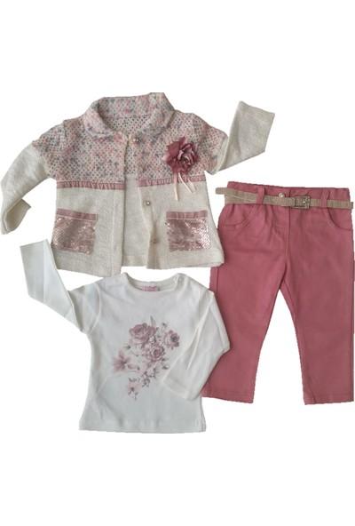 Noy Noy Pullu Hırkalı Kız Bebek Takım