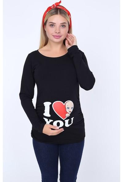 Görsin I Love You Baskılı Sweatshirt