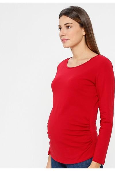Luvmabelly Kadın Yanları Büzgülü Hamile Bluz