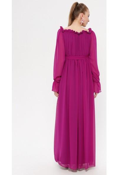 Moda Labio Kadın Şifon Hamile Elbise