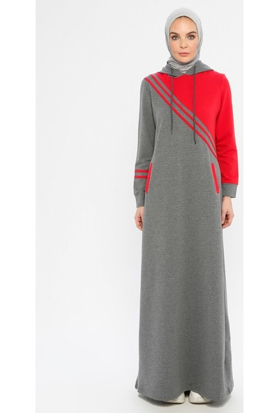 Modagül Kadın Kapüşonlu Spor Elbise