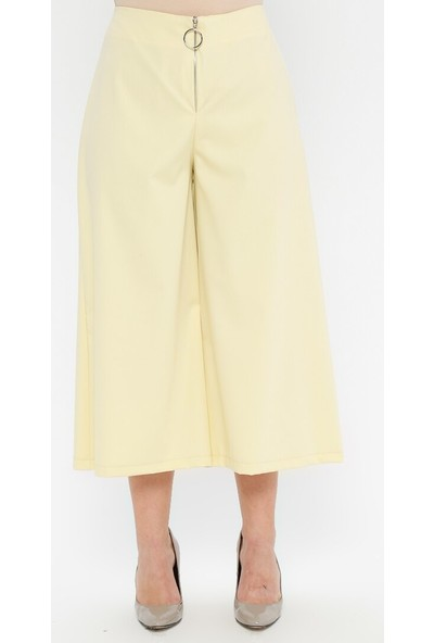 Sln Kadın Geniş Paça Kumaş Pantolon
