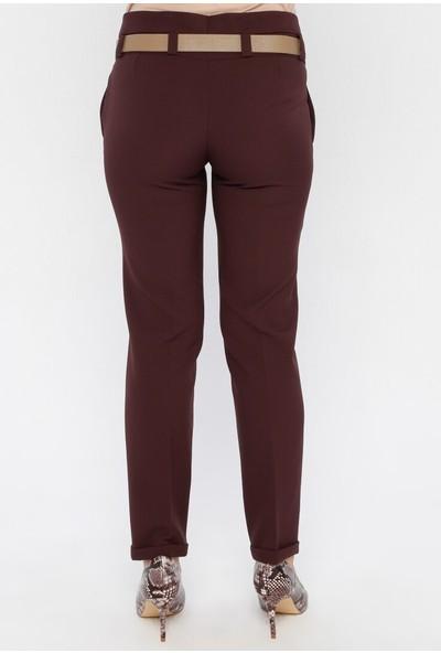 Sln Kadın Kemerli Kumaş Pantolon