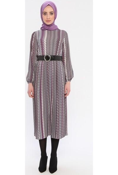Mia Line Kadın Piliseli Elbise