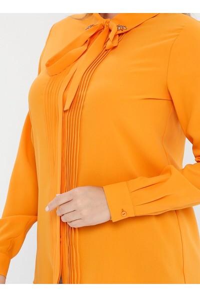 Tuğba Kadın Yakası Bağlamalı Bluz