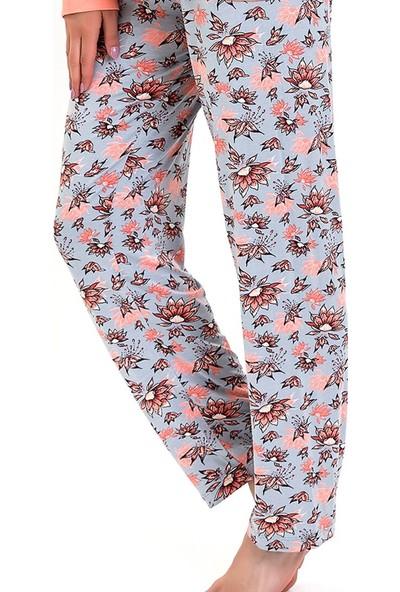 Lingabooms Kadın Kadın Çicek Desenli Pijama Altı
