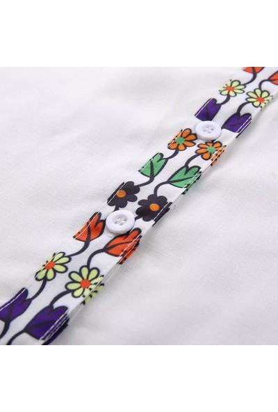 Meyram Butik Tasarım Beyaz Gömlek S