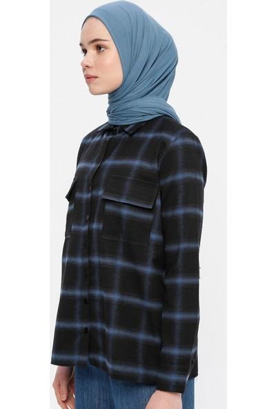 A Point Kadın Ekoseli Gömlek